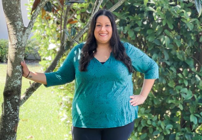 Jasmine lost 71 lbs. on the HMR weight loss program.