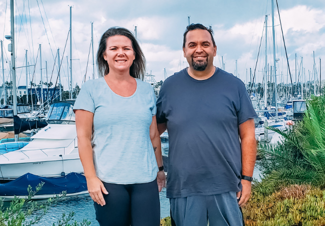 Layna and Tony lost 130 lbs. on the HMR weight loss program.
