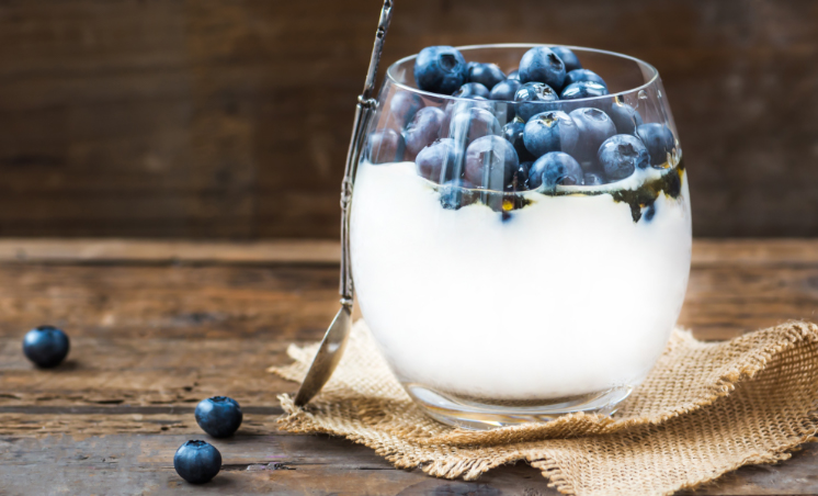 Blueberry Cloud Pudding