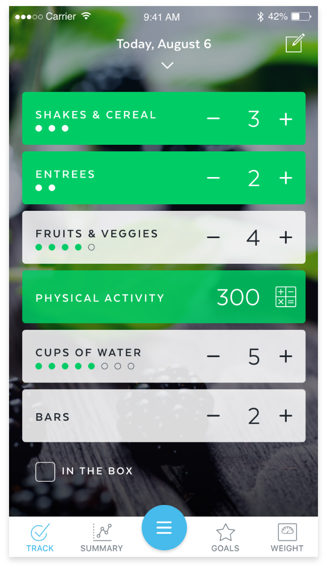 Track your weight loss goals with the HMR app