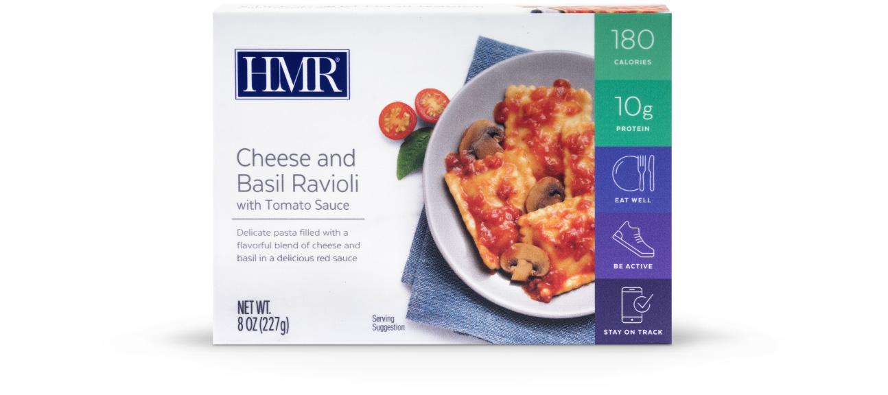 Cheese and Basil Ravioli