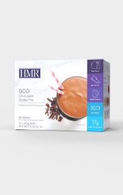 Click to see the front of the HMR 800 Chocolate Shake Mix box