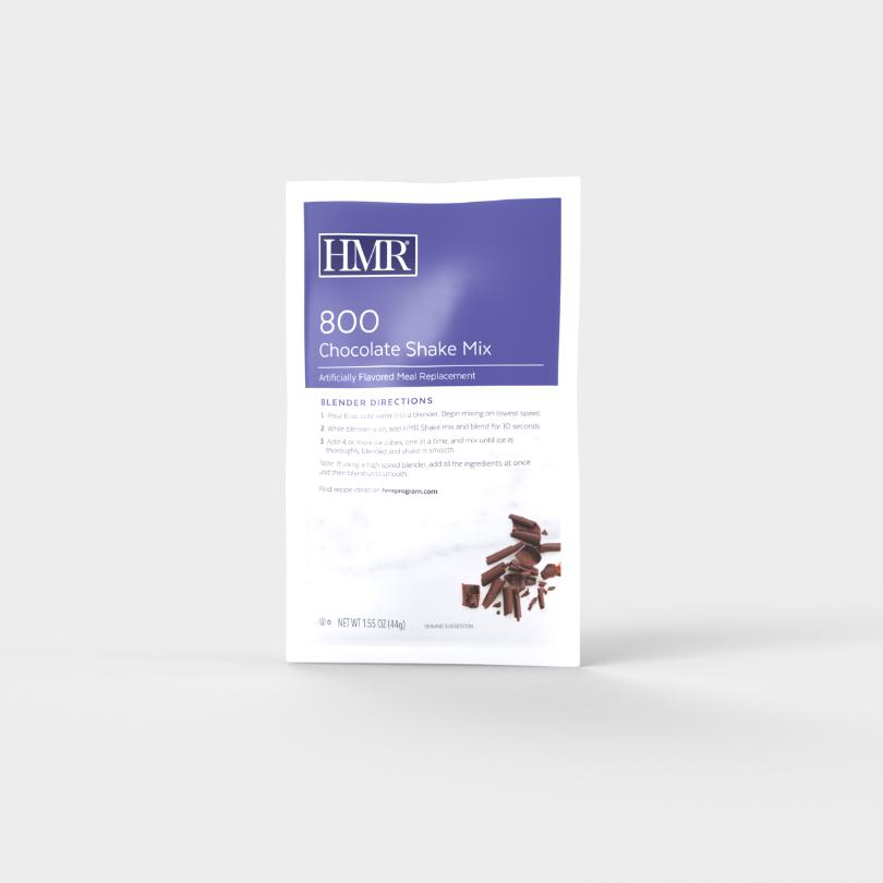 HMR 800 Chocolate Shake Mix single-serve packet