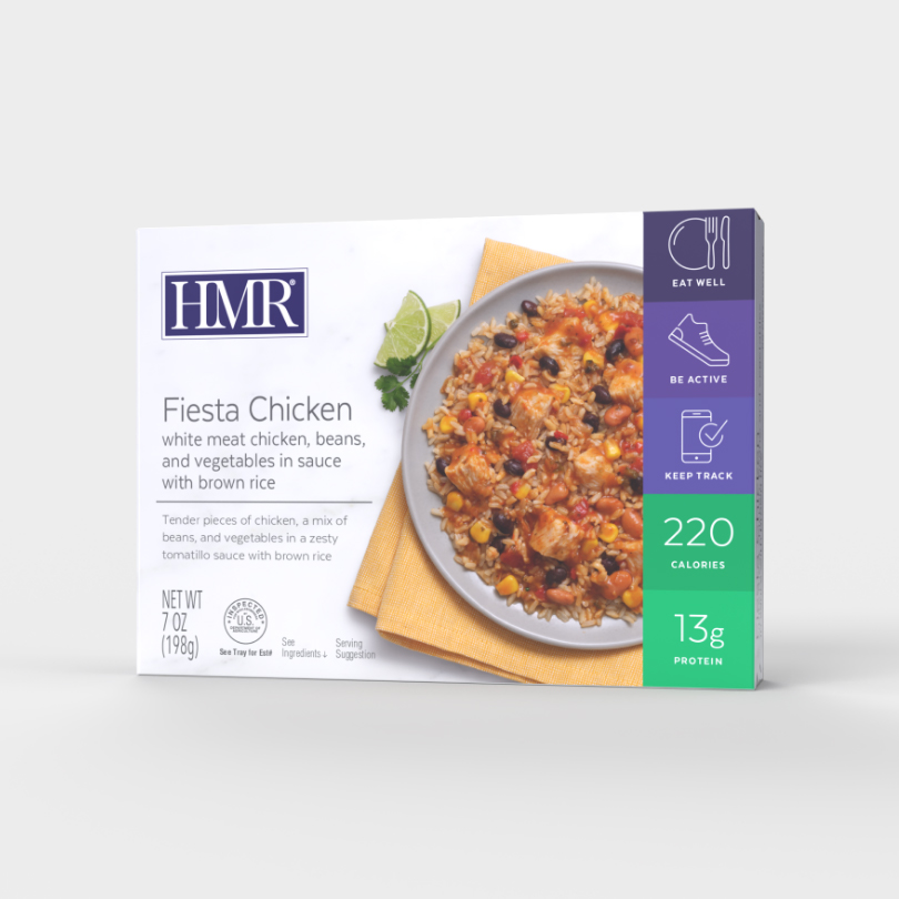 HMR Fiesta Chicken Entree, single serve tray