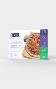 Click to see the front of the HMR Fiesta Chicken Entree box