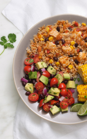 Click to see HMR Fiesta Chicken prepared with vegetables