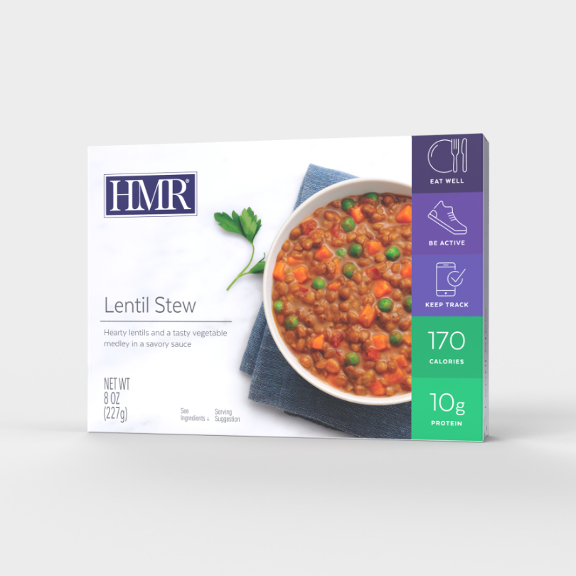 Click to see the front of the HMR Lentil Stew box