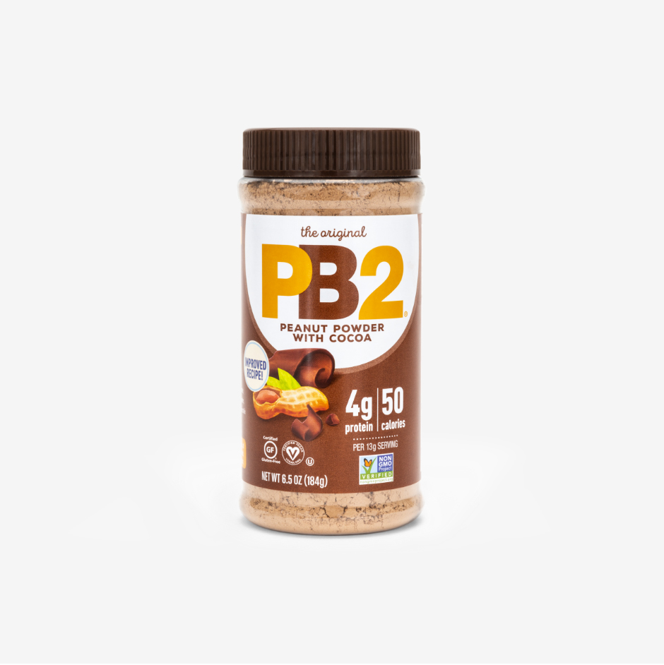 Chocolate flavored PB2 Powdered Peanut Butter with Cocoa, 6 grams of protein per serving,14 servings