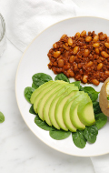 Click to see HMR Turkey Chili with Beans prepared with vegetables